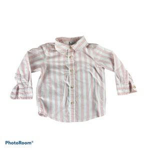 Old Navy Striped Button Down Shirt 2T